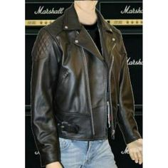 Rocker Style Black Leather Jacket