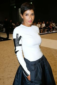 Saudi Princess Deena Al Juhani Abdulaziz at the Sonia Rykiel : Paris Fashion Week Womenswear Spring/Summer 2015 on 29 Sept. 2014