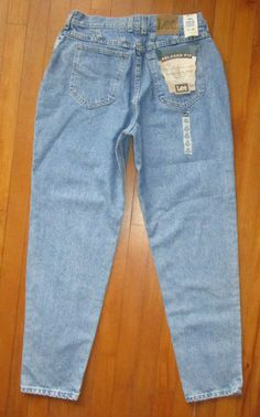NEW Lee Blue Jeans Women Vtg 14 Relaxed Hip Thigh Cotton Mom High Rise W 31 L 31 #Lee #Relaxed