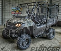 2016 Honda Pioneer 700-4 Camo SxS / UTV / Side by Side ATV - SXS700M4 | Review of Specs, Pictures, Videos, Pricing and More at www.HondaProKevin.com
