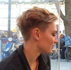 Girls Side Shaved Pixie Hair