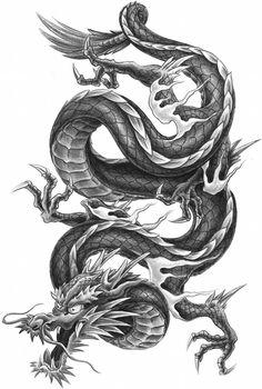 I've always liked that . - Tattoo, I've always liked that … -Tattoo, I've always liked that . - Tattoo, I've always liked that … - ART Body - Tattoo's - Drachen Tattoo Vorlage. Dragon Tattoo Drawing, Chinese Dragon Tattoos, Body Art Tattoos, Sleeve Tattoos, Tatoos, Arrow Tattoo, Japanese Tattoo Art, Geniale Tattoos, Dragon Artwork