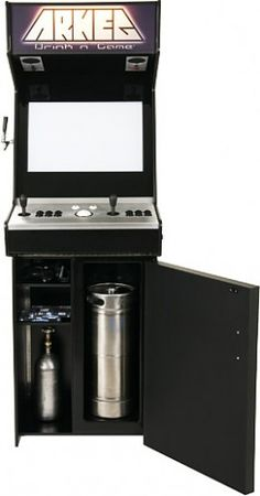 arcade gaming and kegerator in one!