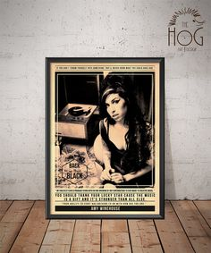 Amy Winehouse  Back to Black  Quote Retro Poster  by HogArtDesign