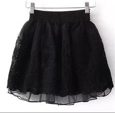 87feb78915 Falda nueva 2017 coreano completo Encaje Bordado tulle falda mini Faldas  moda mujer Faldas Falda plisada