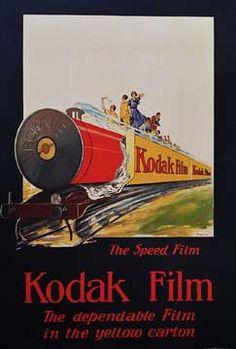 Vintage ♥Kodak Film Train Poster