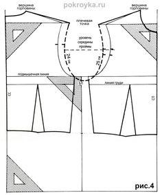 Выкройка лифа без вытачек свободной формы. Изготовление футболок | pokroyka.ru-уроки кроя и шитья