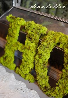 Jennifer gives a great tutorial on moss covered letters