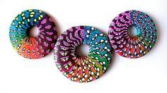 Sylvia Oritz de la Torre's donut pendants ... oh the colors!