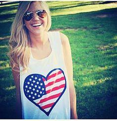 bdb322b689fa Lauren James I Heart the USA Tank  28
