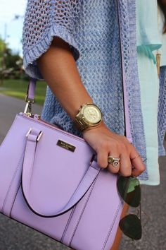 Kate Spade Newbury Lane Small Loden Lightcrocus Leather Handbag