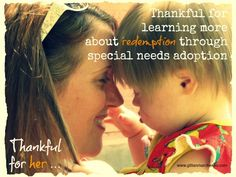 Thankful for special needs adoption