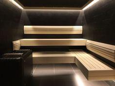 Sauna in Taika and Aspen Sauna Steam Room, Sauna Room, Scandinavian Saunas, Home Spa Room, Sauna House, Outdoor Sauna, Sauna Design, Pool Houses, Bathroom Interior Design