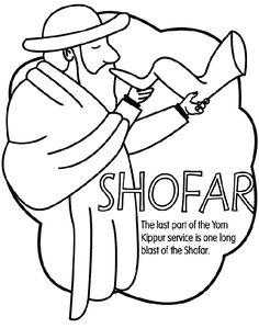 Use Crayola® crayons, colored pencils, or markers to color the Yom Kippur Shofar.A shofar is a ram's horn that is blown as a wind instrument. It is sounded at the synagogue to anounce Yom Kippur and Rosh Hashanah. Coloring Pages To Print, Printable Coloring Pages, Coloring Pages For Kids, Coloring Books, Coloring Sheets, Bible Lessons For Kids, Bible For Kids, Yom Kippur Prayers, Learn Hebrew Online