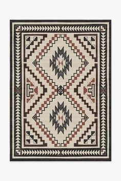 Inspired by Navajo's storm pattern motif, Dakotah Sumac Rug features a central diamond emblem, surrounded by zigzags and corner triangles in neutral hues of grey and charcoal with teal blue and red accents. Coral Rug, Black White Rug, Machine Washable Rugs, Washable Area Rugs, Red Accents, Red Rugs, Natural Rug, Woven Rug, Shopping