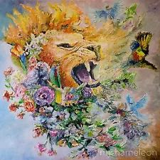 The King: Lions Roar_mjchameleon_Giclee Canvas Print 40 square inch