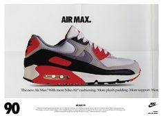 The Are Back with the Nike Air Max 90 vintage ad Nike Poster, Nike Air Max Plus, Air Max Sneakers, Sneakers Nike, Nike Shoes, Vintage Nike, Vintage Ads, Lps, Air Max Light