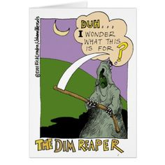 Chicken Soup Book  Parody  Cartoon  GreetingCards  LTCartoons  humor     The Dim Reaper Funny Halloween Cartoon Gifts   Tee Card