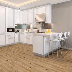 York White Washed Solid Wood Flooring £59/m2