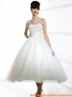 traumhaftes   Brautkleid  aus Organza  A-Linie