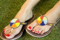 More beautiful sandals from My Kenyan Sandals #hereonthecorner