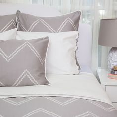 the cora gray duvet cover / crane and canopy