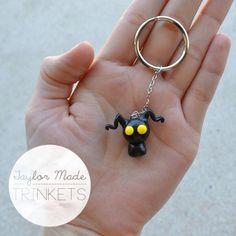 Kingdom Hearts - Shadow Heartless Keyring - Polymer Clay Fimo Sculpey III