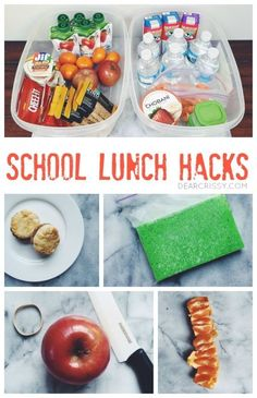 School Lunch Hacks for Busy Moms - These school lunch hacks will make your mornings less hectic and your child's lunch box more awesome!