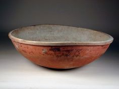 Turned and Painted Wooden Bowl