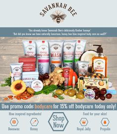 Savannah Bee Body Care is Food for Your Skin! Take 15% Off Today Only!