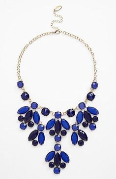 Bold blue statement necklace