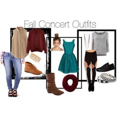 """""""Fall Concert Outfits Pt 1"""" by st4ytru3 on Polyvore"""