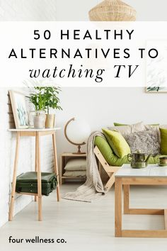 There are plenty of real, scientific reasons that regular TV-watching isn't ideal for overall health and happiness. Spending a lot of time at home and feeling bored? Wanting to live a healthier and more fulfilling life? | Things To Do When Bored At Home | If you're interested in spending some of your daily TV hours another way, here are 50 (healthy!) ways to do that! Click for ideas. | Wellness Tips | Productivity Tips | Four Wellness Co. | #productivity #healthyhabits #wellness #athome Healthy Lifestyle Tips, Healthy Habits, Healthy Routines, Holistic Wellness, Wellness Tips, Health And Wellbeing, Mental Health, How To Treat Pcos, Alternative Health