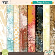 The Lilypad :: Paper Packs :: Grungy & Messy {papers}