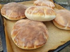 Pita chlieb (fotorecept) Bread Recipes, Baking Recipes, Kebab, Good Food, Yummy Food, Bread And Pastries, Russian Recipes, Arabic Food, How Sweet Eats
