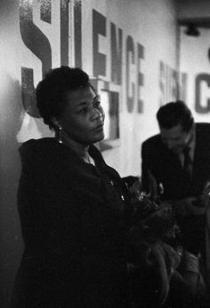 Ella Fitzgerald backstage in France, 1957. (7) Tumblr (bb: I just ADORE this woman.)