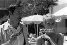 Photo d'actualité : Maurice Ronet and Jean Seberg at filming of 'La...