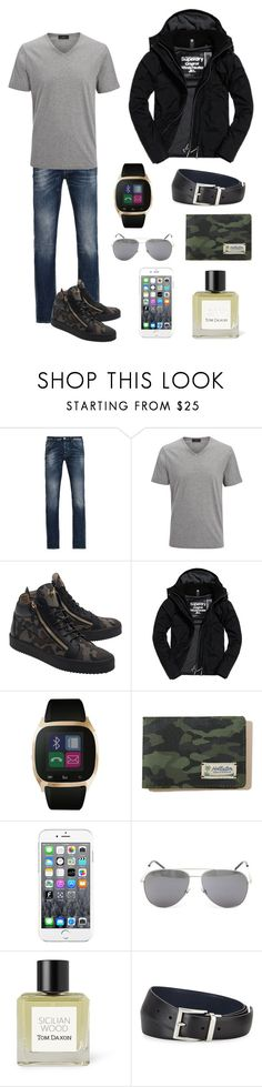 """""""Mark"""" by missychiken ❤ liked on Polyvore featuring Armani Jeans, Joseph, Giuseppe Zanotti, Superdry, iTouch, Hollister Co., Maison Kitsuné, Yves Saint Laurent, Tom Daxon and Prada"""