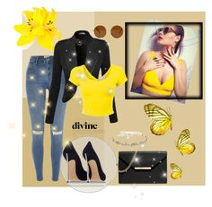 """""""Yellow fashion"""" by azemina-azy ❤ liked on Polyvore featuring мода, River Island, MICHAEL Michael Kors, Casadei, Marchesa, Forever 21, women's clothing, women, female и woman"""