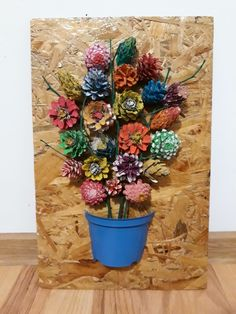 Diy ghiveci cu flori din conuri de brad – Keep up with the times. Pine Cone Art, Pine Cone Crafts, Hobbies And Crafts, Crafts To Make, Beautiful Bouquet Of Flowers, Autumn Flowers, Fir Cones, Painted Pinecones, Pine Cone Decorations