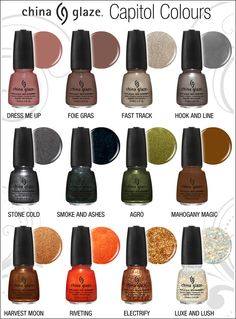 China Glaze Hunger Games Capitol Colours