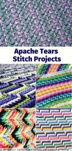 One of the many great things about crocheting is the fact that the simplest stitches create the most spectacular effects. Just take a look at these projects! Crochet Afgans, Crochet Quilt, Tapestry Crochet, Free Crochet, Crochet Blankets, Crochet Shawl, Crochet Stitches For Beginners, Crochet Stitches Patterns, Crochet Designs
