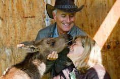 My wife, Suzi, is a true animal lover – one of my favorite things about her. While visiting the Alaska Zoo she really bonded with an orphaned moose calf.   -Jack Hanna, Valentine's Day 2013