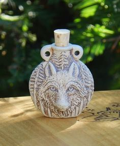 White Magick Alchemy - *Wolf Ceramic Bottle Natural . Spell Oils, Diffuser, Ashes, Pendant, $13.95 (http://www.whitemagickalchemy.com/wolf-ceramic-bottle-natural-spell-oils-diffuser-ashes-penant/)