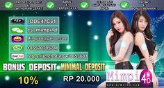 Mimpi4d ( Menjadi Salah Satu Togel Online Terpercaya Di Indonesia, Dengan Menyediakan Bonus dan Discount Terbesar.
