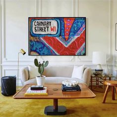 COECLECTIC - Large hand painted artwork on canvas - Carnaby I