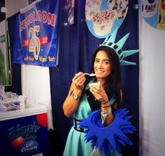 Rainbow Dots!! Dippin Dots i'll be back for more later!!!  #ifam #nyc #franchiseexpo