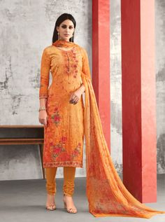 KARMA D.NO.-A-411 RATE : 1395 - KARMA TRENDZ AMAIRA A-405 TO A-411 SERIES  DESIGNER EMBROIDERED PARTY WEAR & FESTIVE LOOK DESIGNER COTTON SATIN STRAIGHT SUIT BOLLYWOOD PARTY WEAR AT WHOLESALE PRICE AT DSTYLE ICON FASHION CONTACT: +917698955723 - DStyle Icon Fashion