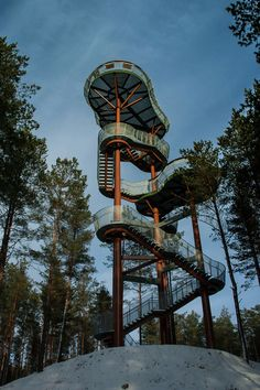Image 1 of 32 from gallery of Observation Tower / Arvydas Gudelis. Courtesy of Arvydas Gudelis Landscape Structure, Landscape Architecture, Architecture Design, Classical Architecture, Beautiful Architecture, Lookout Tower, Tower Design, Amazing Spaces, Urban Furniture