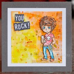 Visible Image stamps - Max Rocks - Teenage character stamp - Lisa Nygards